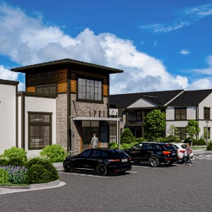 Computer rendering of Springs at Lily Cache clubhouse exterior
