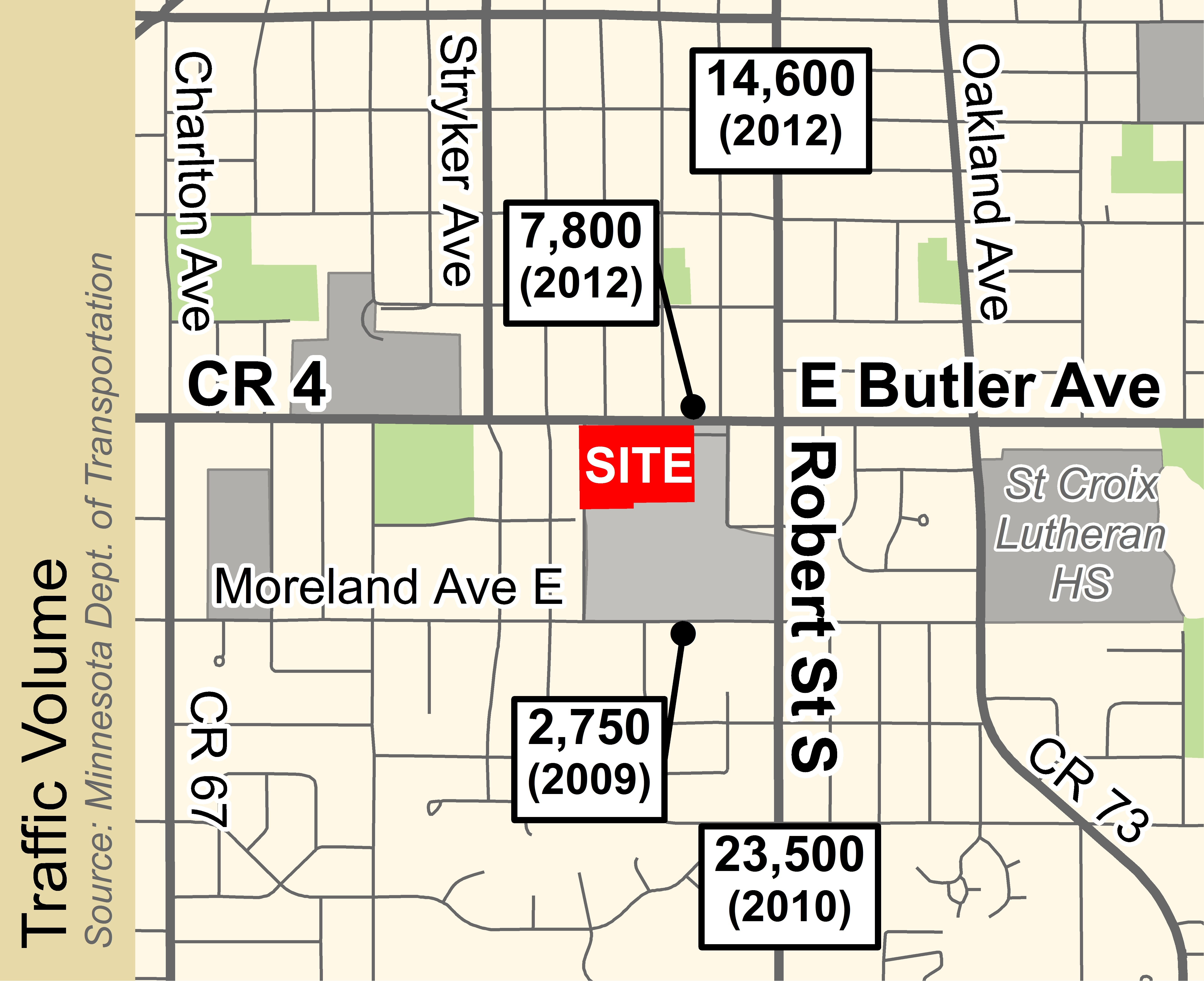 St Paul Traffic Map.Retail Space West St Paul Mn Retail
