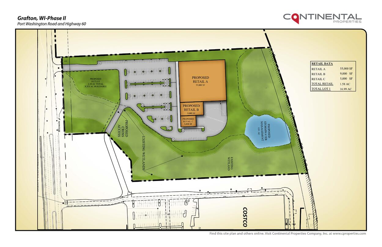 Costco Locations Wisconsin Map.Land Available Grafton Commons Land